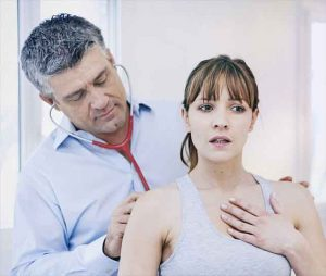 Chest physio rehabilitation adult after covid-19 pneumonia chest infection